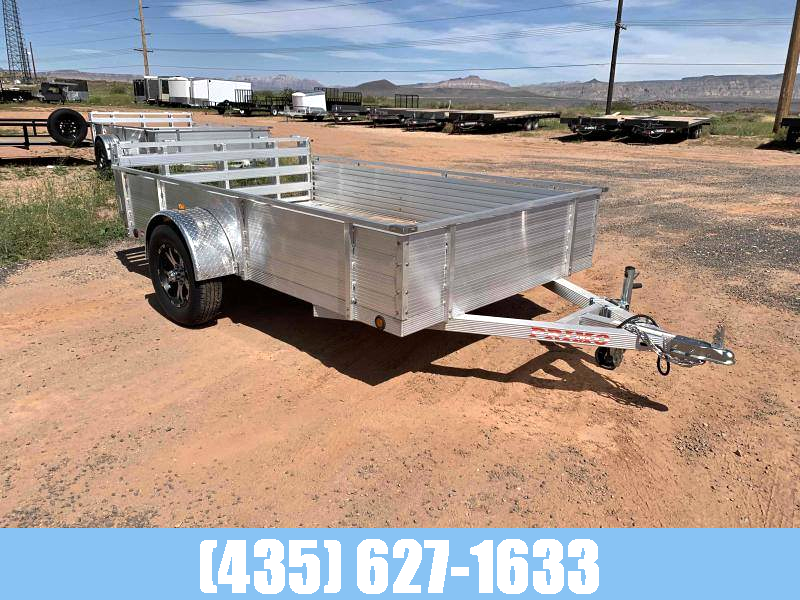 Primo 6X12 Aluminum Utility w/ Solid Sides and Bi-Fold Gate