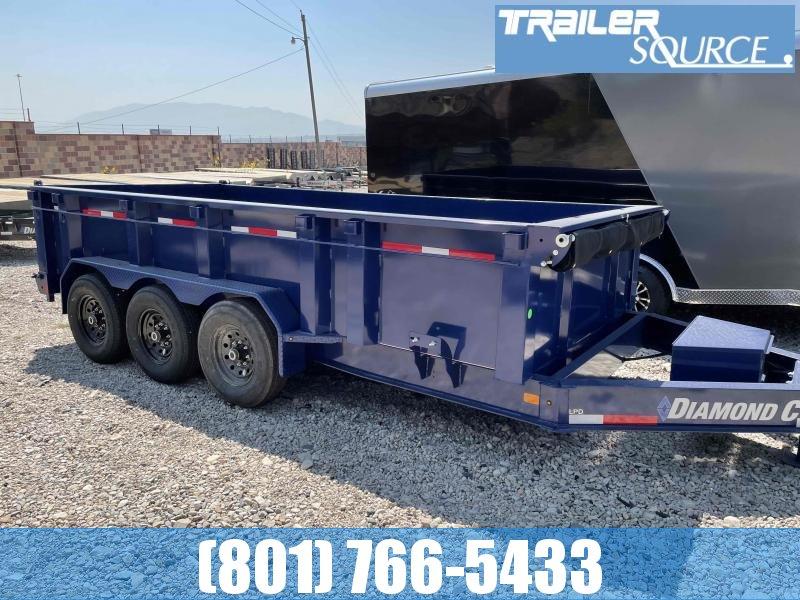 2021 Diamond C Trailers 7x16 Triple Axle Dump Trailer