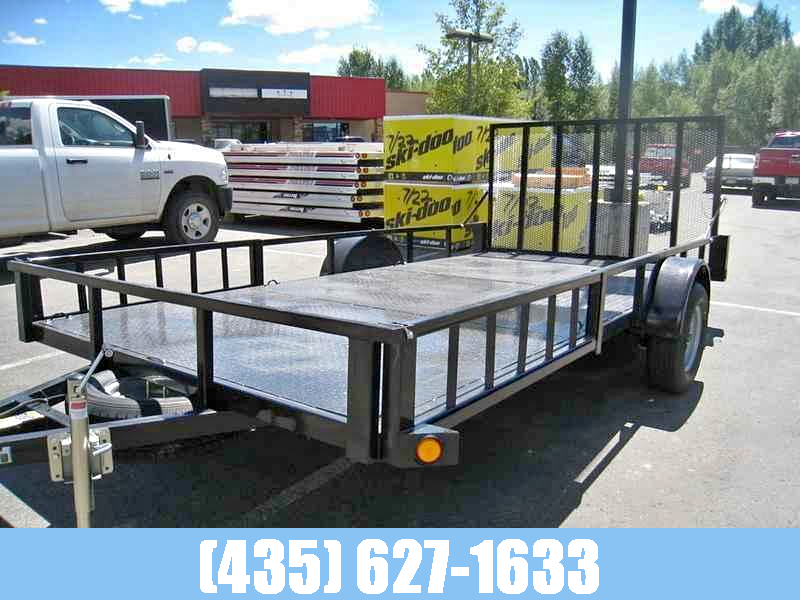 Echo Voyager 7x14 Single Axle with Steel Deck and Sideload Ramps
