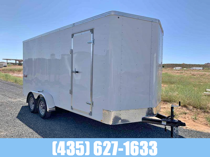 """Mirage 7x16 Tandem Axle Enclosed Cargo Trailer 7'0"""" Height"""