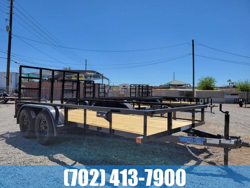 Top Hat 6.5x14 DOUBLE AXLE Side by Side Utility Trailer