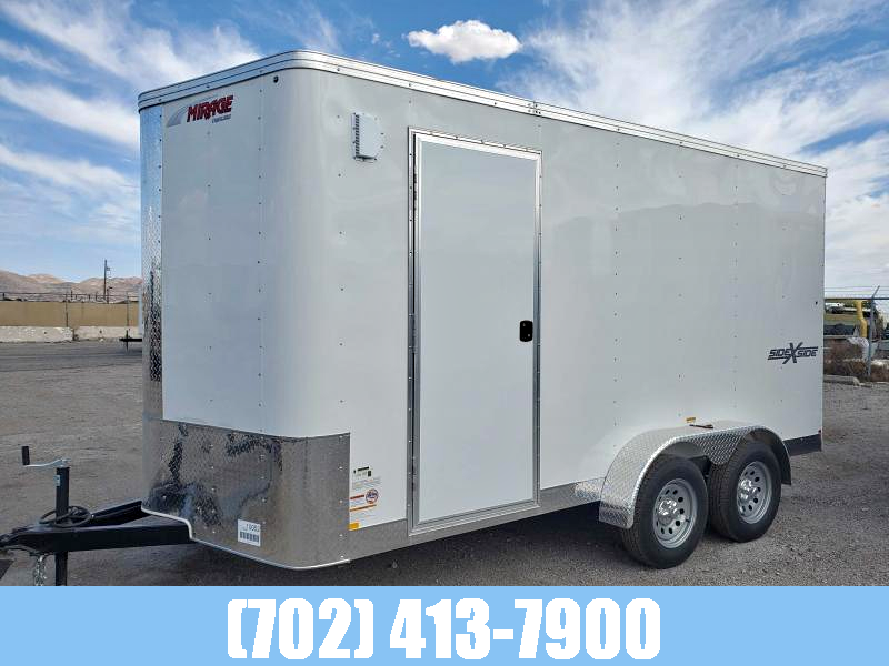 MIRAGE Trailers 7X14 SIDE BY PACKAGE CARGO TRAILER