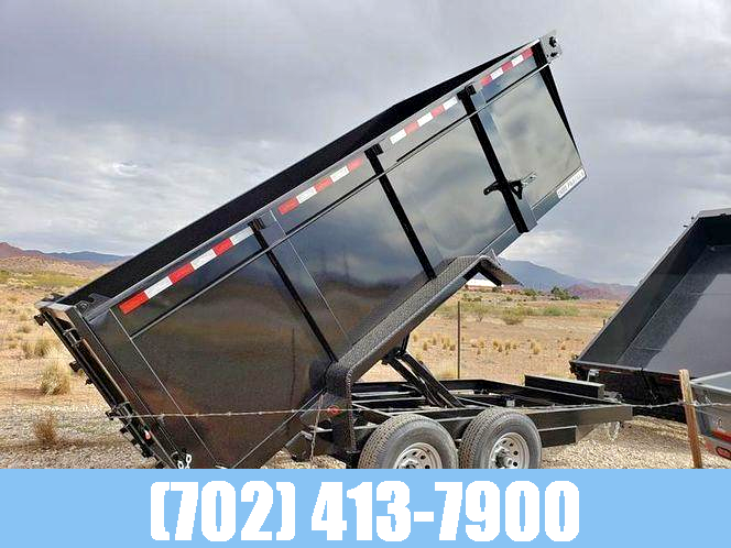 IRON PANTHER 7X14 14K DUMP TRAILER W/ 4' SIDES