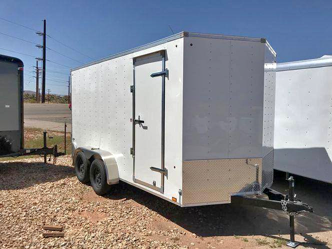 "Look Trailers 7X14TA2 Enclosed Trailer with Ramp and 7'0"" Interior"