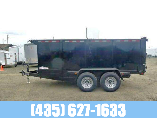 """Iron Panther 7x14 14k GVW Dump Trailer with tall 48"""" sides"""