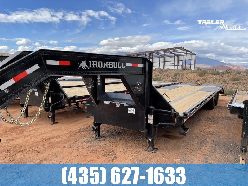 2022 Iron Bull FLG22 102x32 22K Gooseneck Low-Pro Equipment Trailer