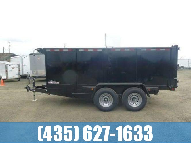 Iron Panther 7x14 14k GVW Dump Trailer with tall 48' sides