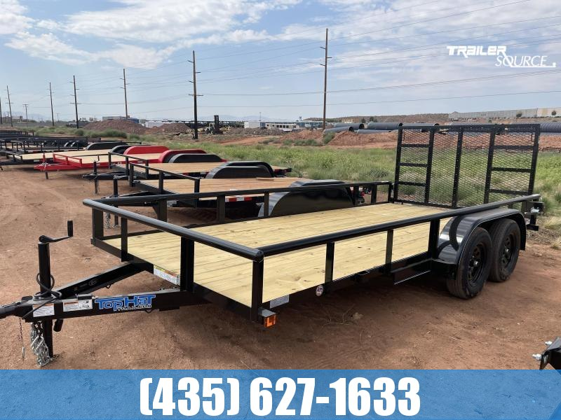 2022 Top Hat Trailers 7x16 Tandem Pipe-Top Utility Trailer
