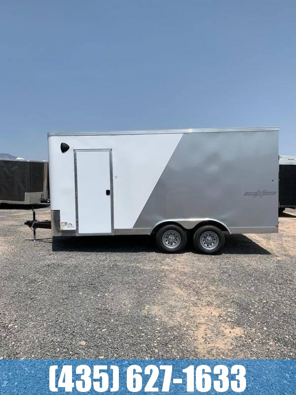2021 Mirage 8.5x16 Xpress Enclosed Cargo Trailer with Side by Side Package VHB Screwless