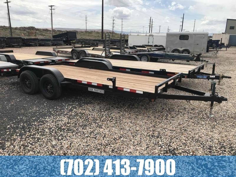 Iron Panther 7x18 Car Hauler Utility Trailer with Dovetail