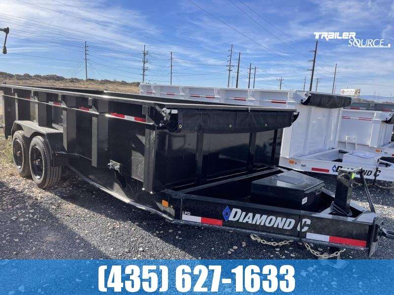 2022 Diamond C 7x16 LPD620 208 Package (18K) Dump Trailer
