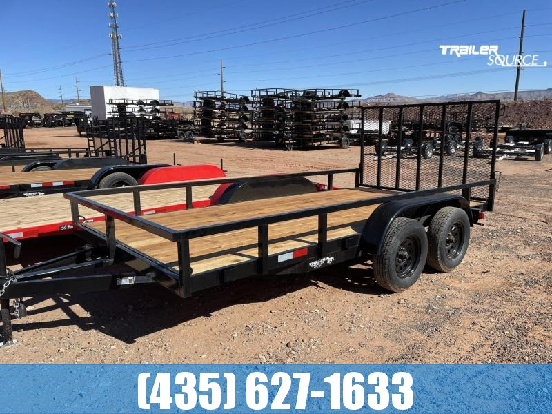 2021 Workhorse Trailers 7x14 Value Gate Tandem Axle Utility Trailer