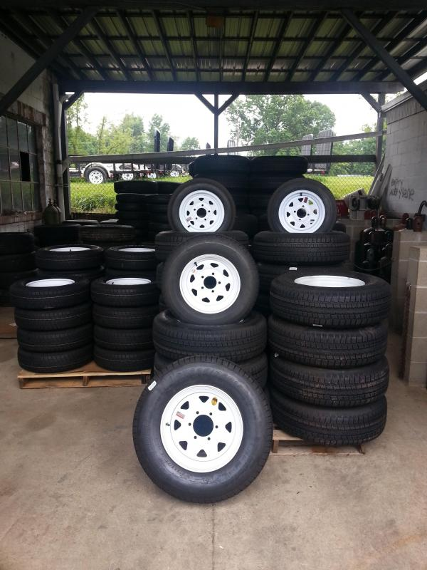 Trailer tire and wheel combo. Provider ST Radial tire and steel wheel ready to bolt to your trailer.