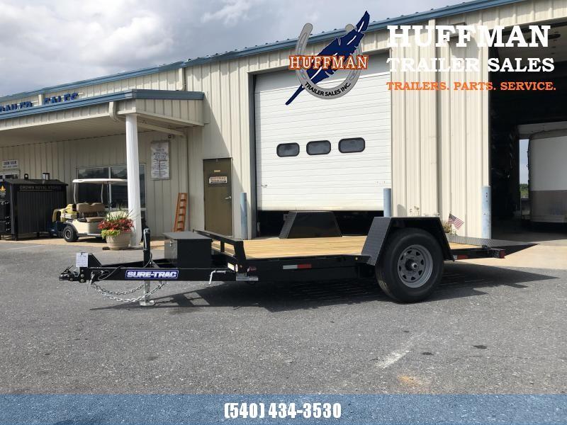 "Sure-Trac 78"" x 12' Tilt Bed Equipment Trailer"
