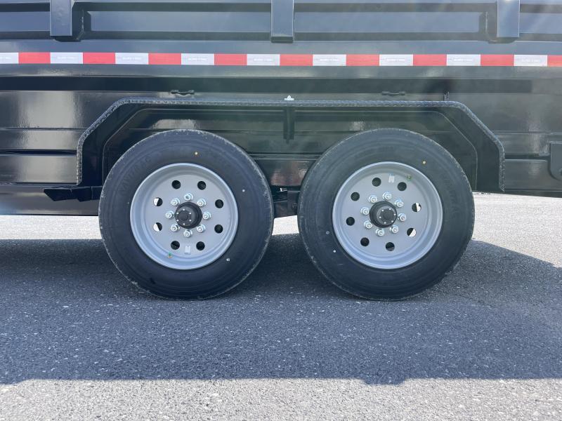 "Sure Trac 82"" x 16' Gooseneck Dump Trailer"