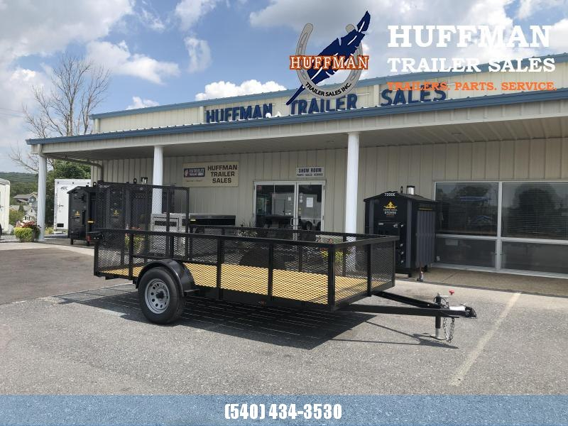 """Better Built 7 x 12 Utility Trailer w/ 24"""" Mesh with Side Ramp"""
