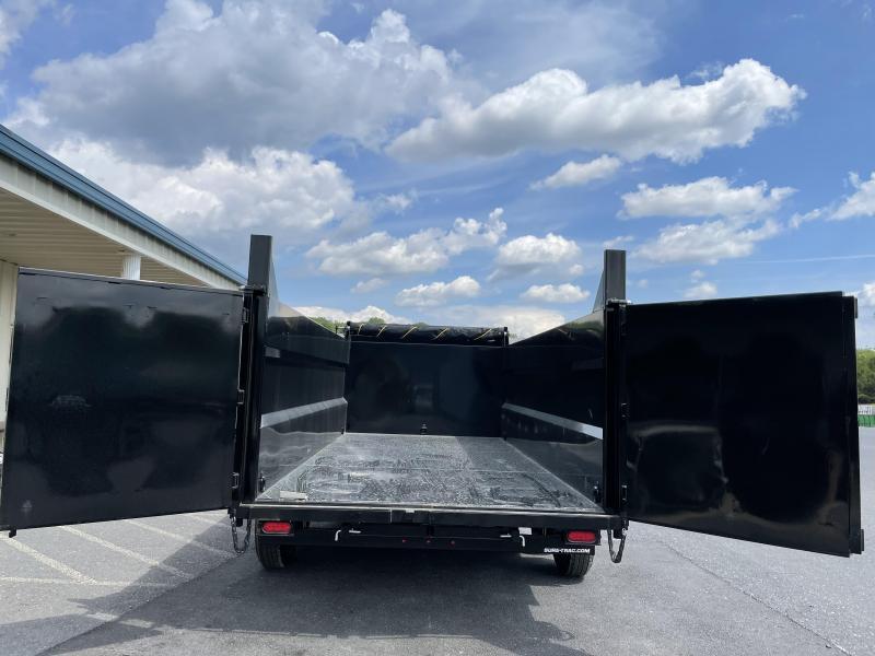 """Sure Trac 82"""" x 16' Dump Trailer w/ 4ft Sides"""