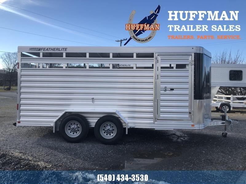 Featherlite 8107 16' Stock Trailer