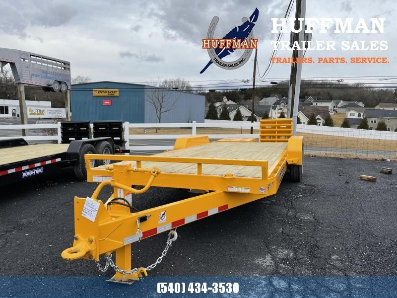 Sure-Trac 17+3 Universal Ramp Equipment Trailer Yellow