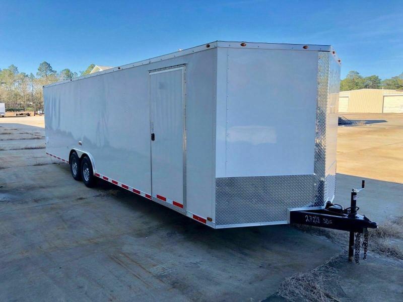 New 8.5 x 28 V-Nose Enclosed Car Hauler