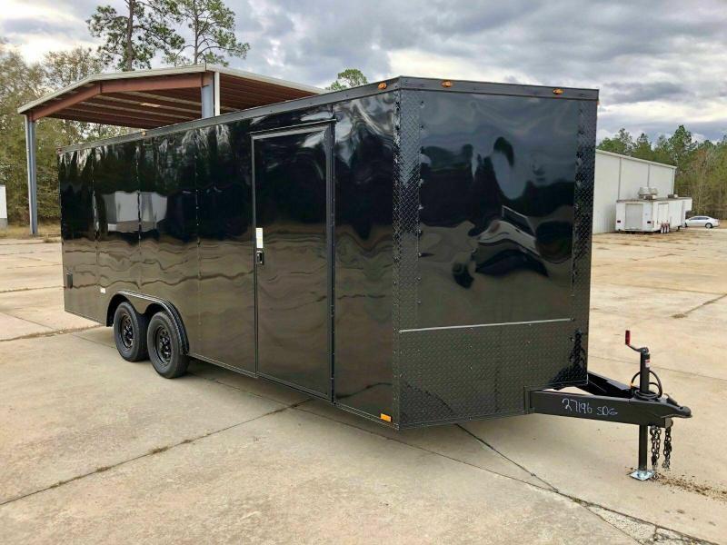 New 8.5 x 20 V-Nose Enclosed Car Hauler