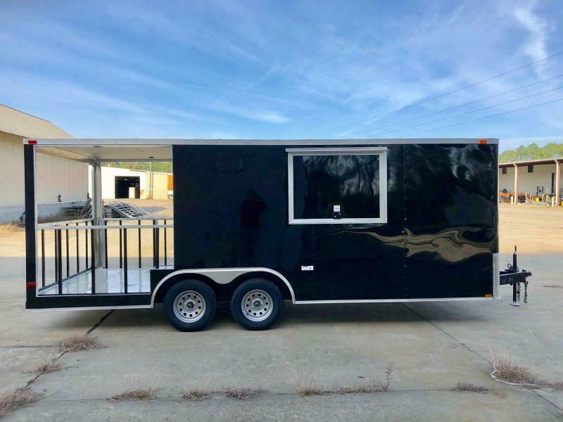 New 8.5 x 22 BBQ Porch Trailer Enclosed Concession Vending Truck Catering