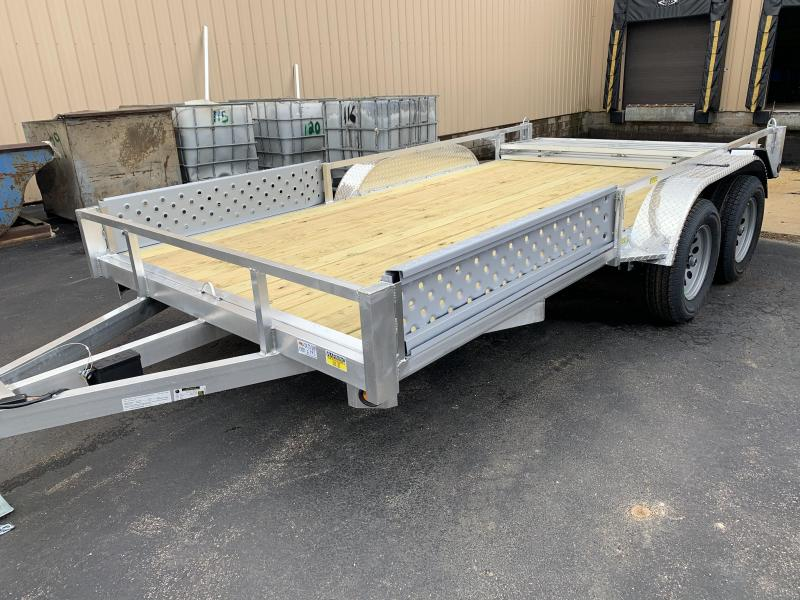 82X14 7k TA  Simplicity Aluminum Utility Trailer