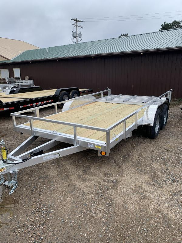 """2022 Quality Steel and Aluminum 82"""" x 14' TA 7K Utility Trailer"""