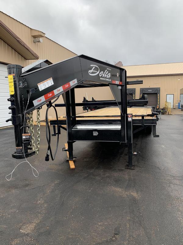 2021 Delta 210GN-30' Dually Gooseneck Flatbed Equipment Trailer