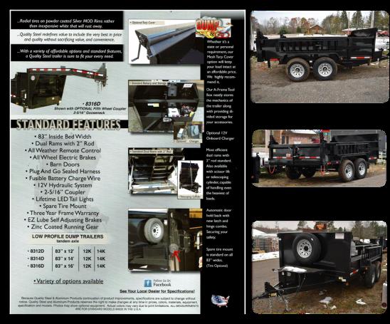 83 x 16' 14K Quality Steel and Aluminum Dump Trailer