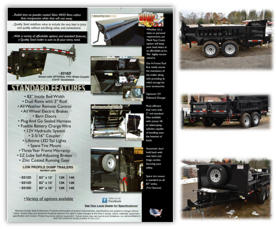 2022 Quality Steel and Aluminum 83 X 14' Low Profile Dump Trailer