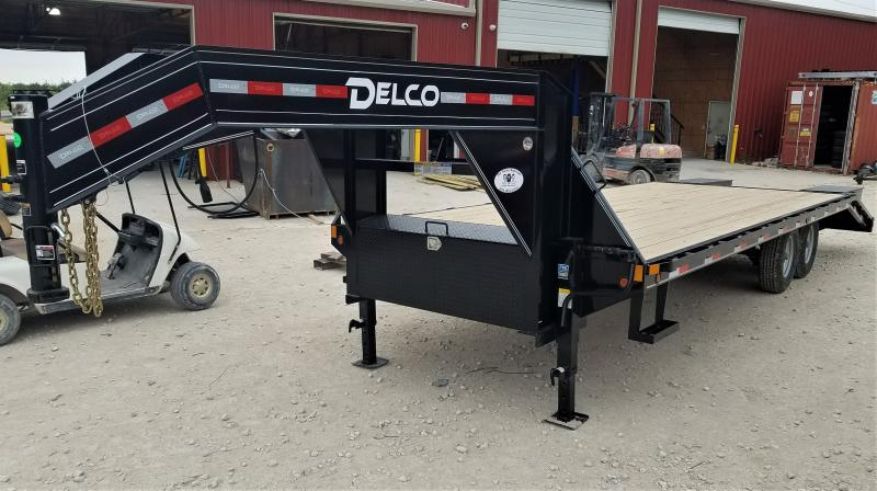 2021 Delco Trailers 14K, 25' HD FLATBED W/ EQUIPMENT RAMPS
