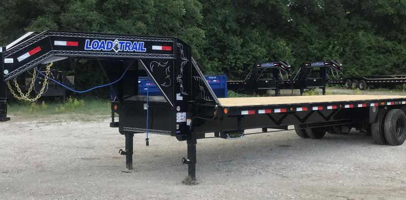 2021 Load Trail GH0232122 32' HD EQUIPMENT W/ MAX RAMPS, 12K EOH Flatbed Trailer