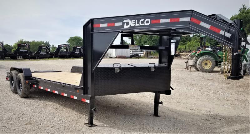 2021 Delco Trailers 22', 14K GN CAR HAULER W/ MAX RAMPS