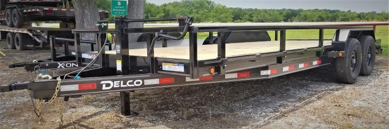 2021 Delco Trailers CH8322072 22' EQUIPMENT HAULER W/ REMOVABLE RAILS Car / Racing Trailer