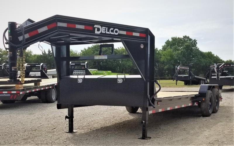 2021 Delco Trailers GC8320072 20', 14K GN CAR HAULER W/ PIPE RAIL Car / Racing Trailer