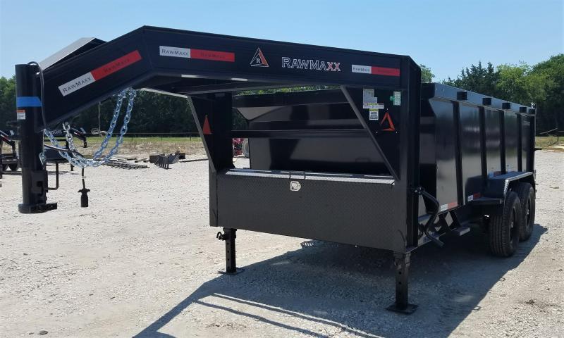 2022 RawMaxx 14K, 14' DUMP TRAILER W/ 4' SIDES