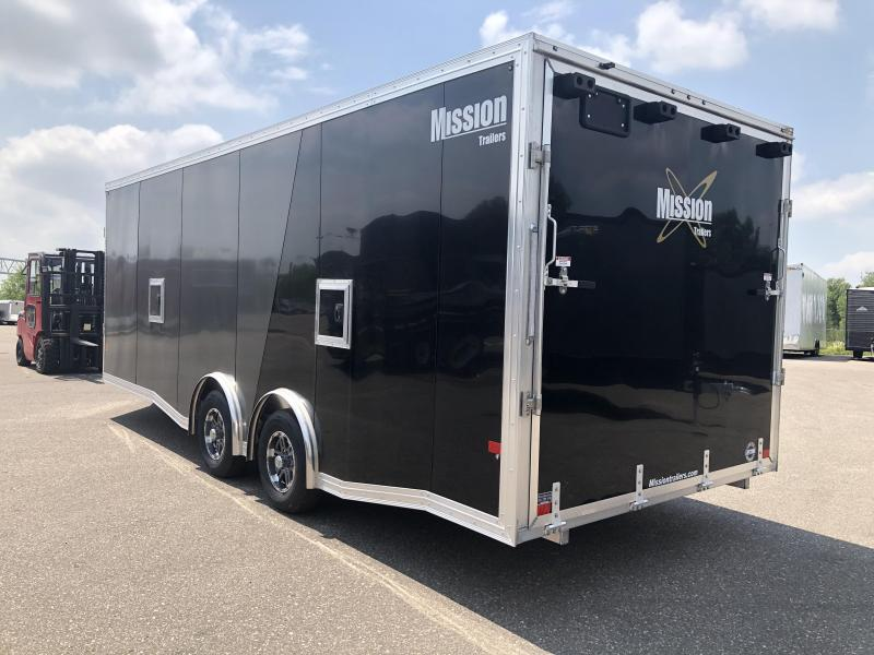 2021 Mission MCH8.5X22A-S Snowmobile Trailer
