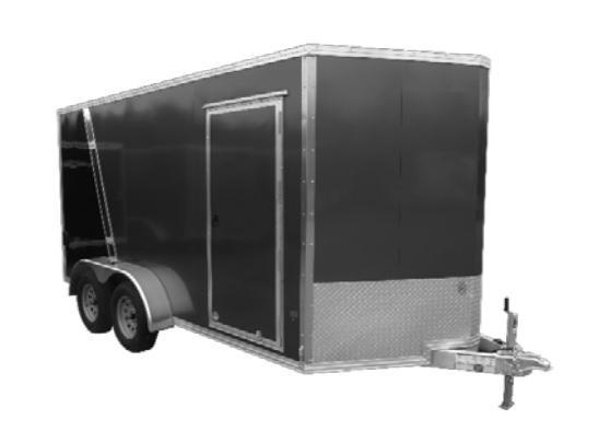 2021 E-Z Hauler EZEC 7X16 Cargo / Enclosed Trailer SCRATCH AND DENT