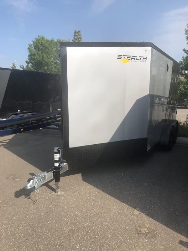 2022 Stealth Trailers APACHE Snowmobile Trailer 7X19 ALUMINUM SNOWMOBILE TRAILER - 7' HEIGHT - HELMET CABINET