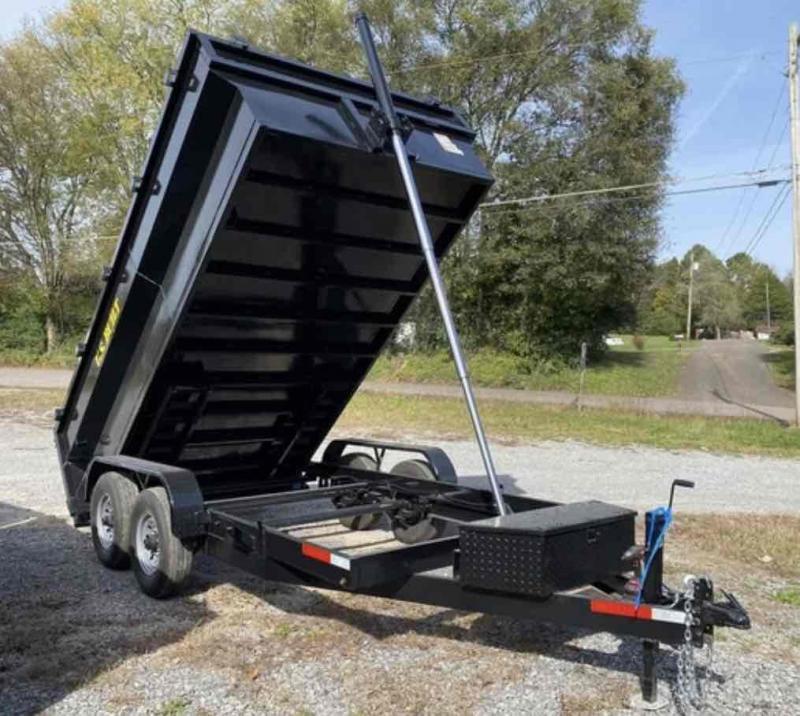 2021 U.S. Built 7x14x2 14k Bumper Pull Dump Trailer
