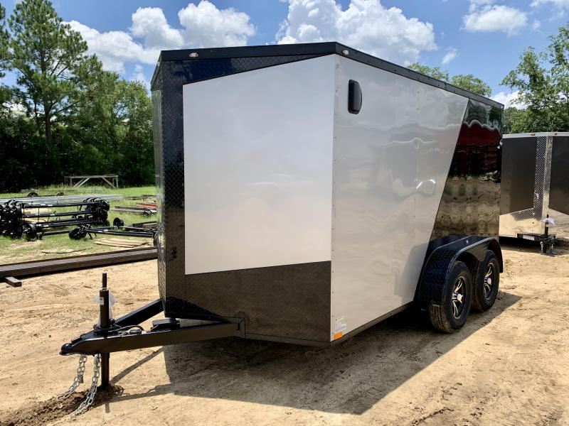2022 Seed Cargo 2 Tone 7x12 Tandem Axle Enclosed Cargo Trailer