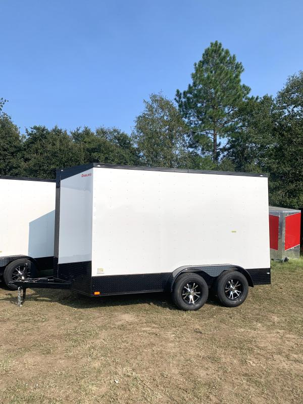 2022 Overland Trailers 7x14 Tandem Axle Blackout Package Enclosed Cargo Trailer