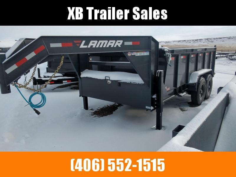 2022 Lamar Gooseneck Dump Trailer 83 x 16  16K