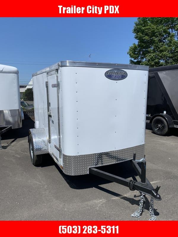 2021 Continental Cargo 5 X 8 S/A RAMBLER 3K WHITE DOORS Enclosed Cargo Trailer