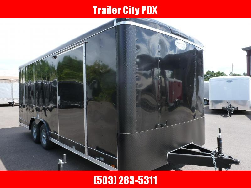 2020 Continental Cargo 8 X 20 10K RAMP BLACK Enclosed Cargo Trailer