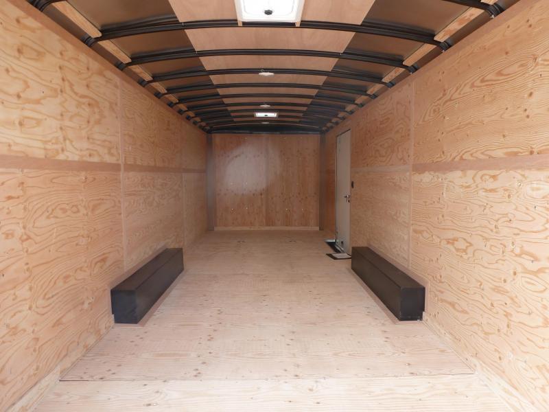 2020 Continental Cargo 8 X 20 10K RAMP BLACK Enclosed Cargo Trailer