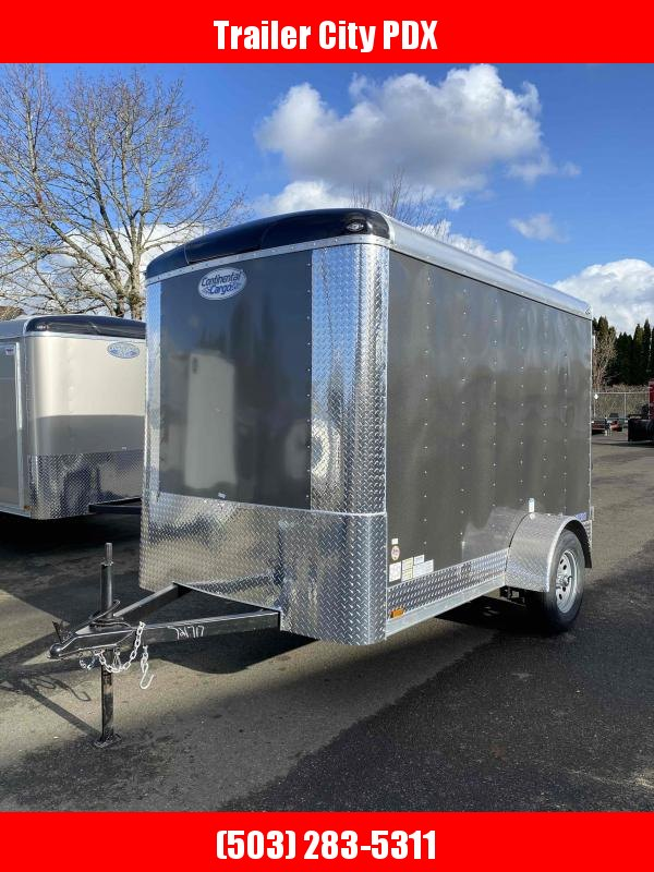 2021 Continental Cargo 6X10 5K CARGO DOORS CHARCOAL Enclosed Cargo Trailer