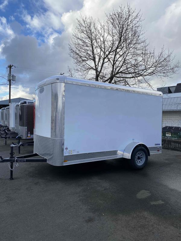 2021 Continental Cargo 6x12 3k CARGO WHITE Enclosed Cargo Trailer