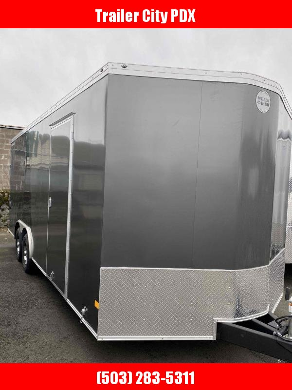 2021 Wells Cargo 8.5X20 10K ROAD FORCE RAMP Enclosed Cargo Trailer